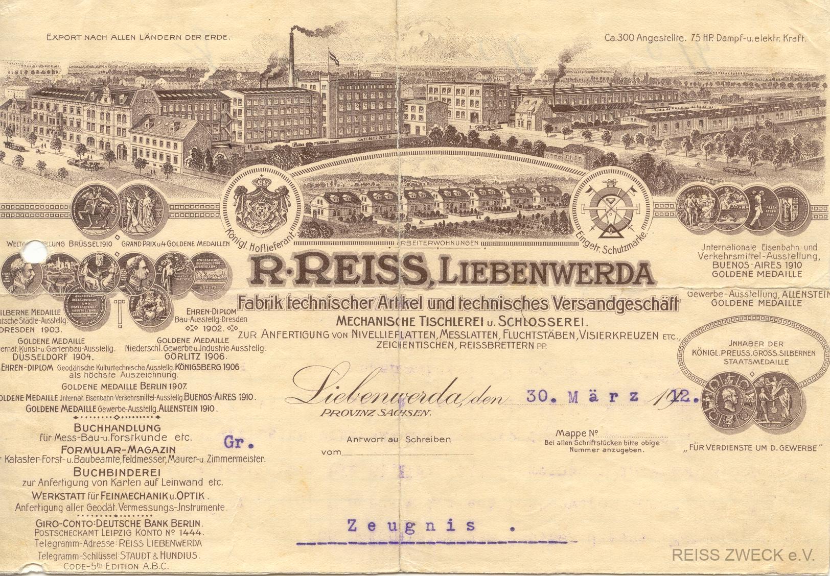 Briefkopf 30_03_1912_Zeugnis